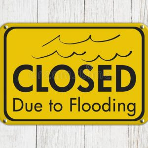 Closed for flooding
